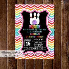 Hey, I found this really awesome Etsy listing at https://www.etsy.com/listing/207535274/bowling-invitation-bowling-party-invite