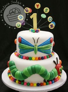 Very Hungry Caterpillar cake-I already have an advance request for hungry caterpillar cupcakes for a birthday. Cupcakes, Cupcake Cakes, Fairy Mermaid, Hungry Caterpillar Cake, Fancy Cakes, Pretty Cakes, Celebration Cakes, Amazing Cakes, Eat Cake