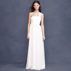 Pretty ruching at top...J Crew Lucienne gown