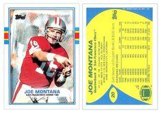 Joe Montana 1989 Topps 20 (UK Version)
