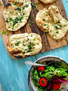 The Spoon and Whisk: Easy BBQ Flatbreads with garlic herb butter