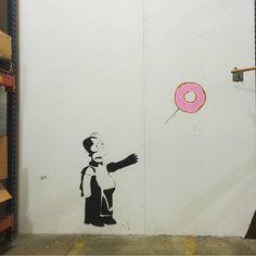 @oakoak_street_art vs @banksy.co.uk www.UpFade.com