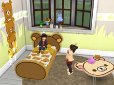 Sims 4: Rilakkuma bed frame for toddler by tamamaro Sims 4: Rilakkuma Set by tamamaro