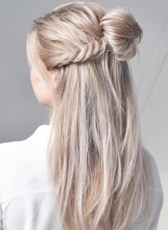 Hair Blonde Long Half Bun 30 Ideas For 2019