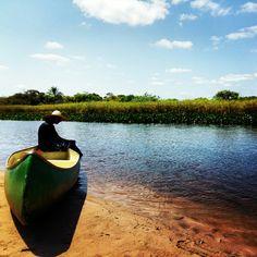 Registro do descanso do nosso barqueiro Fabinho! Passeio de canoa pelo Marimbus, mini- pantanal da Chapada Diamantina  Andaraí /Bahia - Brasil