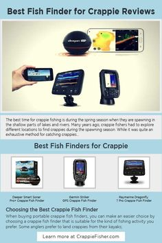 Best Fish Finder for Crappie: Now with the use of modern technology, there are excellent crappie fish finders to help you find crappies out there in the lakes. Crappie fish finders are smart gadgets fitted with GPS, sonar tracking systems, and transducers among other features that will help you easily locate crappies during the fishing season. Crappie Fishing Tips, Fish Finder, Tracking System, Lakes, Gadgets, Technology, Modern, Tech, Trendy Tree