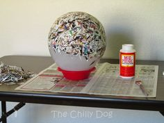 The Chilly Dog: Craft Challenge Tutorial: Paper Bowl Paper Cup Crafts, Recycled Paper Crafts, Newspaper Crafts, Dog Crafts, Cute Crafts, Crafts For Seniors, Crafts For Kids, Magazine Bowl, Rolled Paper Art