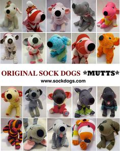 Sock Mutts - they can even make a custom one to look like your pup! #Sockdolls