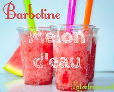 Une recette de Barbotine (slush) au melon d'eau de la Testeuse.