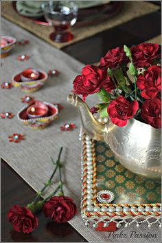 Diwali decorations, Diwali Diya, Diwali Décor, Diwali Inspiration, Diwali table settings, Diwali Tablescape, Diya Décor