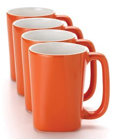 Take a look at this Orange 14-Oz. Mug - Set of Four by Rachael Ray on #zulily today!
