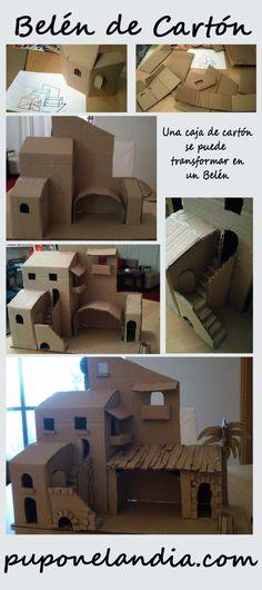 Betlemme - struttura in cartone - puponelandia.com