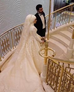 China Long Sleeves Muslim Bridal Ball Gown Lace Hijab Wedding Dresses L1027 - China Wedding Dresses, Bridal Dress