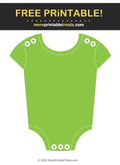 Apple Green White-Stitched Baby Onesie Cut Out