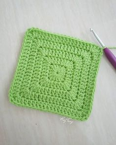 Solid granny square without gaps. Just keep doing 2dc, 1tr, 2dc into each corner. I also slip stitch - kaz.tung
