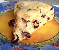 Cranberrry Orange Scone recipe via HomeTownFit. Best scone recipe ever!