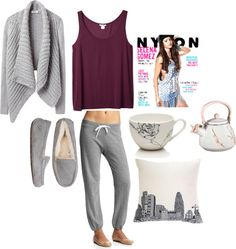 """inspired outfit for a lazy day"" by hayleycarbran ❤ liked on Polyvore"