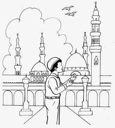 Happy Eid Mubarak Printable coloring cards, Digital File