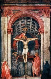 Masaccio, 1425.  Estilo perteneciente al renacimiento.    He escogido esta obra porque se trata de la primera vez que se hace un uso de la perspectiva para crear un espacio autentico, dando una sensación de profundidad y también se realizó un gran paso hacia la naturalidad y la perfecta expresión en las pinturas. Fue una revolución para la pintura.