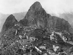 """The first Archaeology Photos of Machu Picchu were taken by (Photograph by Hiram Bingham). """"In 1912, Yale University professor and explorer Hiram Bingham was searching in the Peruvian Andes for the ancient Inca capital of Vilcabamba when he and his guide stumbled onto one of the greatest archaeological finds in history…the lost city of Machu Picchu."""" historical photos, machu pichu, peru, national geographic, old photographs, machu picchu, old photos, machupicchu, 1912"""