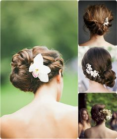 6 Ideas for Beautiful and Romantic Wedding Hairstyles with Flowers long wedding hairstyles ideas