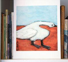 Good for the Goose  art print  folk modern animal art by LisaFirke, $27.50
