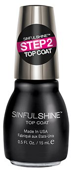 Sinful Shine - Top Coat ♦  Step 2 after your color coat ♦  Toluene, Formaldehyde & DBP Free ♦  Made in the USA
