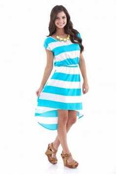 Liberty Belle Dress-Aqua
