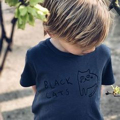 Don't be afraid pic by @haaikie rockin' our #blackcat t-shirt #blaclothing #verysuperstitious #kidstyle #kidswear #cats #kidsclothes