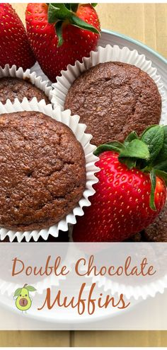 Double Chocolate Muffins, Dark Chocolate Chips, High Fat Foods, Almond Recipes, Cooking Time, Yummy Treats, Whole Food Recipes, Sweet Tooth, Cream