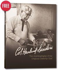 FREE KFC Colonel Sanders Audiobiography and Cookbook Download on https://www.facebook.com/KFC/app_140410136083847#!/KFC/app_140410136083847