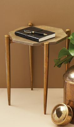 Twos Company 1950's Shagreen Occasional Table & Reviews | Wayfair