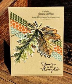vintage leaves stampin up - Google Search