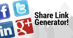 Use a Share tool to generate engagement. Share Link Generator: Twitter, Google Plus, LinkedIn, and Pinterest