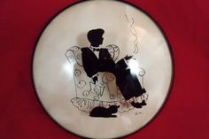 vintage silhouette pictures convex glass - Google Search