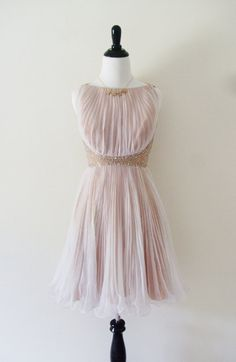 Classic Vintage Hand Crafted Beaded Beige Pink by petitecute, $98.00