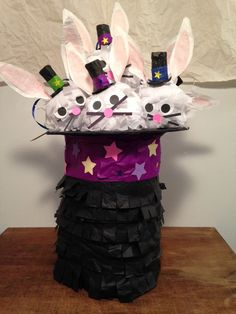 Magic Pinata Hat full of White Rabbits for your by NatureCurios