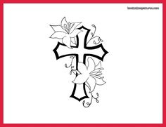 cross with designs | free cross tattoo designs for women neck
