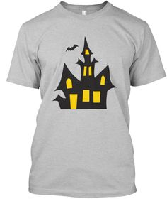 Halloween House   Limited Edition   Light Heather Grey  T-Shirt Front