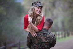 Beautiful Military engagement photos