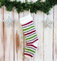 Classic Crochet Christmas Stocking Pattern   AllFreeCrochet.com