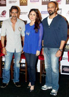 Kareena Kapoor Khan, Ajay Devgn and Rohit Shetty launch 'Singham Returns' merchandise. #Style #Bollywood #Fashion #Beauty