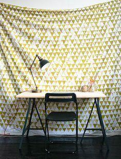 Dorm DIY: Geometric Wall Hanging