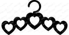 Heart shape hanger cloth tie CNC Cut File Vector Art - Cuttable - DXF - CAD drawing - Laser Cut Pattern .cdr .pdf .ai .eps .svg