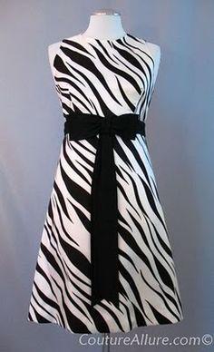 1960s zebra print silk dress.