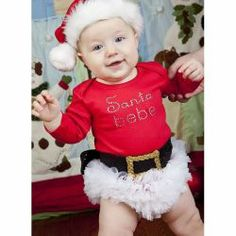 Santa Bebe Tutu Onesie Christmas Moxie Couture