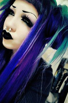 #Goth girl with nose ring