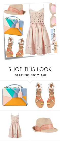 """spring/summer 2016 outfit #5"" by tobeglam ❤ liked on Polyvore featuring Post-It, Mark Cross, Miss Selfridge, Eugenia Kim, Summer and pastels"