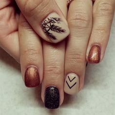 This is why today we found the best fall nail art. We accept begin 33 of the best fall nail art designs of all time. These fall nail art designs are incredible. Bravo to these amazing nail artists who think of these creative ideas. Fall Nail Art Designs, Diy Nail Designs, Nail Polish Designs, Nails Design, Fall Designs, Gel Polish, Fall Pedicure Designs, Feather Nail Designs, Tribal Nail Designs