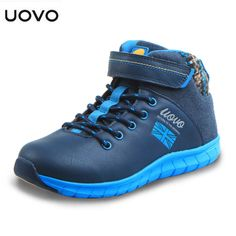 UOVO Children's shoes Soft Sole Boys Casual shoes Waterproof Child Lace-up Sport Shoes Non-Slip Sneaker for Kids Toddler baby | E-BAYZON